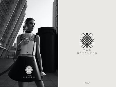 TWO 2 DREAMERS monogram logo abstractmark abstract logo graphic design typography branding logo logo design vector design