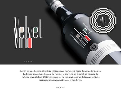 Velvet Vino typography abstract logo abstractmark abstract design logotype branding logo vector logo design design