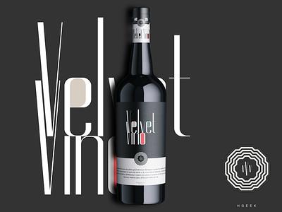 Velvet Vino 2 typography abstract logo abstractmark abstract design branding logo logo design vector design