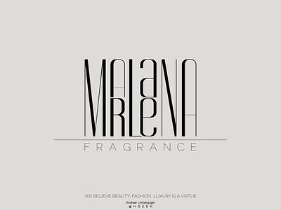 MARLAENA FRAGRANCE lettermark branding logo logo design vector design