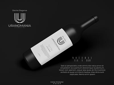 URANOMANIA image branding monogram design labeldesign brandidentity branding logo logo design vector design