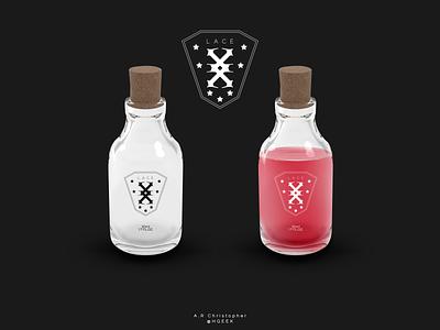 LACE Perfume flat design graphic design brand design branding logo vector logo design design