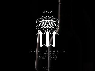 WAHLENHEIM #2 lettermark image branding brand design branding design monogram design monogram flat design graphic design branding logo logo design vector design