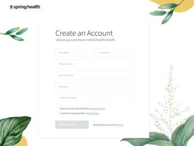 Spring Health Sign Up