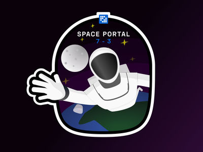 Liferay Space Portal liferay spaceman vector sticker design illustration
