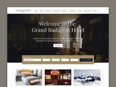 Grand Budapest design budapest grand golden hotel classy mockup ui ux web-design