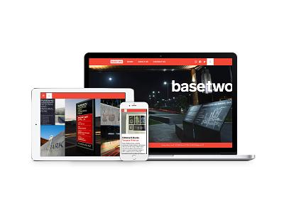 Basetwo Website ui design ux design-studio red rebrand web web-design
