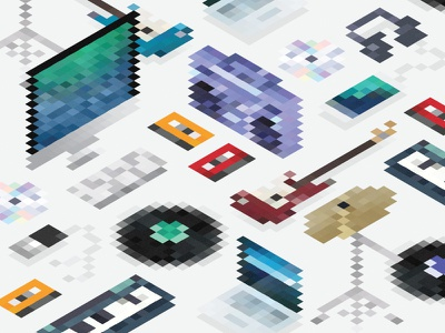 labs.fm digital design cassette vinyl debut 8-bit pixels music logo pixel branding