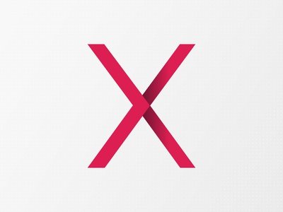 X x gradient tech graphic branding red design logo startup
