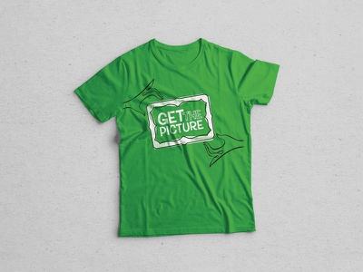 Get The Picture picture frame lettering tshirt brand graphic-design design branding t-shirt green logo