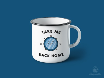 Take Me Back Home series campaign graphic design vector cute inspiration funny illustration witty vinyl simplistic kawaii coffee cup design branding camping badge