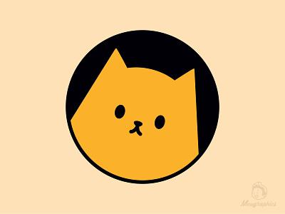 Curious Window Cat kawaiiillustration kawaiicat windowcat illustrator catlovers graphic design cats catlover kawaii stickermule simplistic cute design illustration