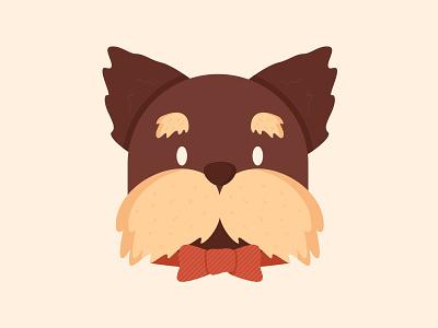 Mr.Pup animals cute flat vector design illustration dog puppy