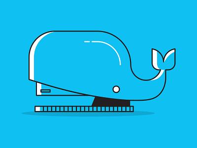 Whale Stapler  stapler whale art simpistic inspiration illustration design
