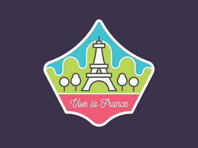 Vive la France fun eiffel tower graphic design design vector illustration stickermule france