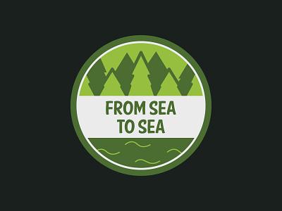 Canada, From Sea to Sea sea vector stickermule simple logo illustration cute canada