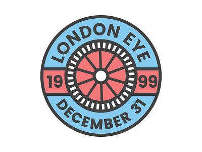 London Eye badge sticker stickermule contest uk wheel londoneye london