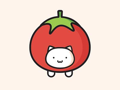 Tomato Cat cat vector tomato sticker simple illustration