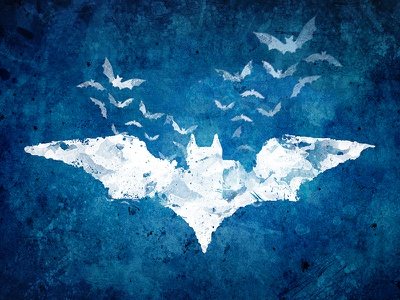 The Batman brush flying canvas paint comics dc bats illustration batman