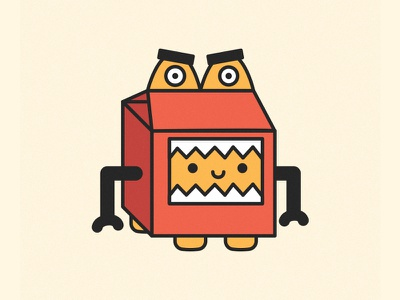 Happymealofhorrow Dribbble vector design sticker illustration cute kawaii happymeal creature costume stickermule hallowen horror monster