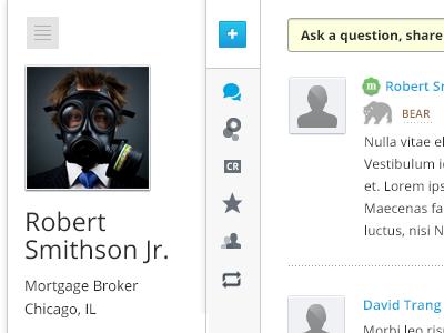 Profile profile ui ux menu user white sidebar icon