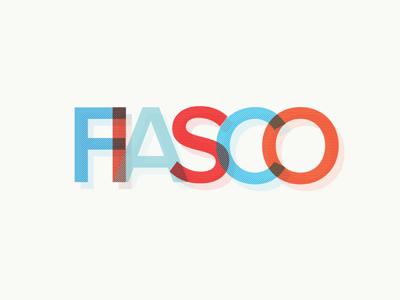 Fiasco logo proxima type