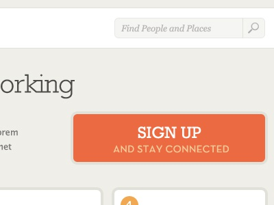 Sign up button signup orange flat rockwell