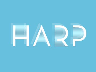 Harp logo typography neutraface