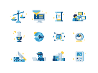 Game Analytics Icons