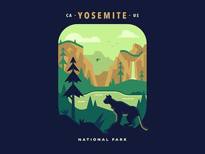 Yosemite National Park california landscape abstract green valley pine cougar mountain lion yosemite national park