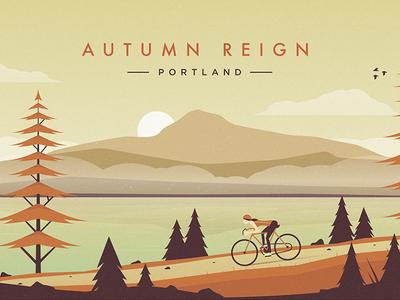 Autumn Reign: Portland autumn fall reign portland trees mountain bike cycle fog birds
