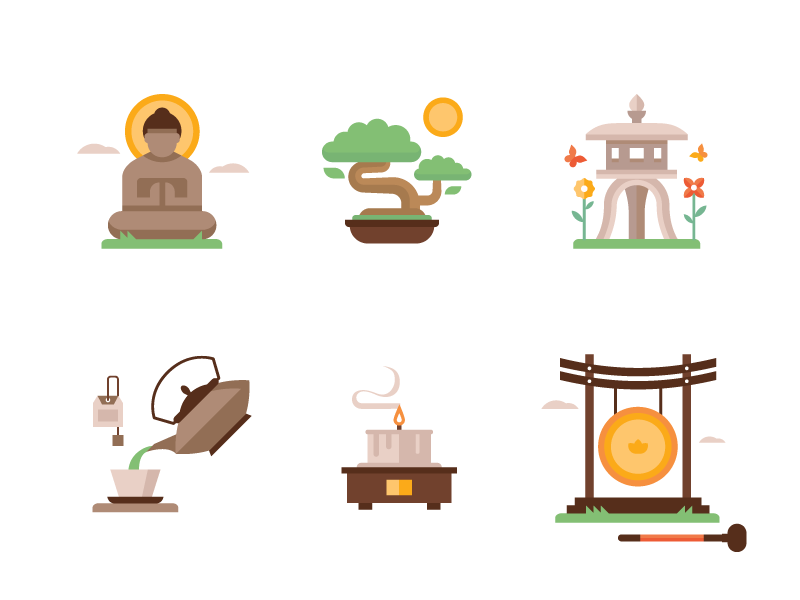 Zen Garden Icons by Matt Anderson on Dribbble