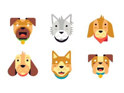 Dog Emojis bulldog corgi retriever golden husky pug beagle pooch puppy dog