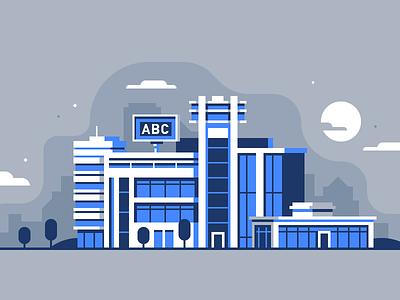 "Ecosystems: ""ABC"" Company company business city blue facade building ecosystems"
