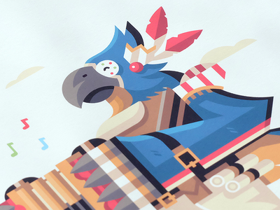 The Feathered Bard video game music bard minstrel accordion feather parrot bird rito kass