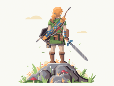 Master Of The Wild mushroom rock nature shield link zelda breath of the wild triforce sword master