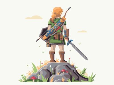 Master Of The Wild mushroom rock nature shield link zelda breath of the wild triforce sword master