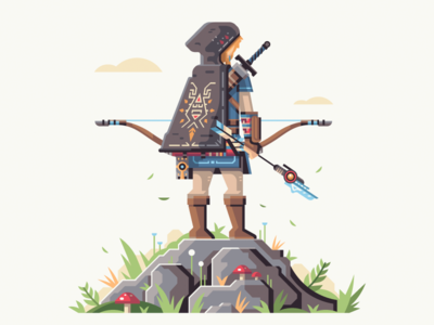 Hunter Of The Wild cloak arrow hood hunter link nintendo zelda breath of the wild bow