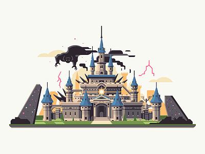 Corrupted Kingdom kingdom corrupt castle hyrule breath of the wild calamity ganon zelda