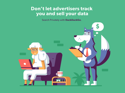 Ad Tracking Predator spy security privacy tracking advertising ad predator prey sheep wolf