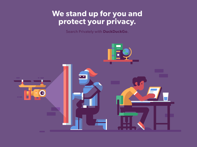 Privacy Protector shield surveillance globe book knight security privacy private search laptop drone