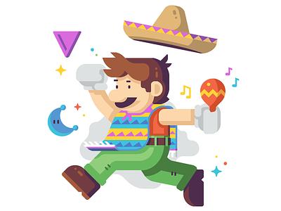 Jumpman (Mariachi) nintendo music super odyssey mario moon coin maraca mexico sombrero poncho mariachi