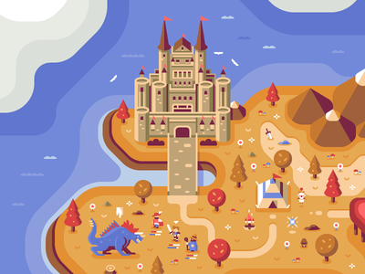 Final Fantasy - Discord Overworld behemoth mage moogle tent mountain ocean final fantasy nintendo castle rpg pixel art overworld