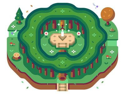 Lost Woods - Discord Overworld Snippet stump fairy tree forest sword breath of the wild nintendo game zelda