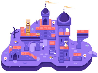 Monument Valley - Discord Overworld Snippet architecture flag castle tower puzzle game totem monument valley
