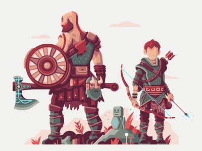 Warriors of Midgard magic statue arrow bow loki mythology norse midgard warrior shield axe god of war