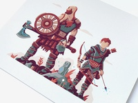 Print Detail: Warriors of Midgard