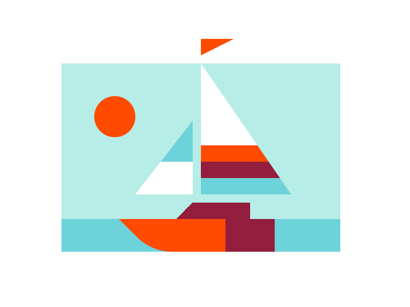 Boat sun abstract ocean water boat sailboat sail