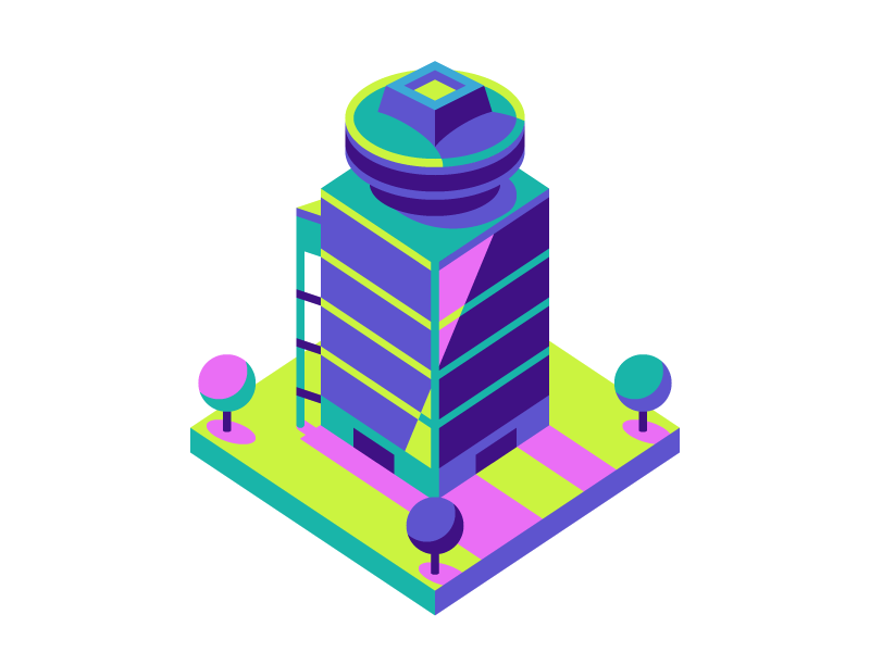 First Federal Plaza tree city tower building isometric rochester