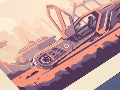 Blade Runner 2049 print city skyline cyberpunk dystopia atmospheric scifi car blade runner
